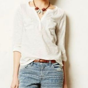 Postmark for Anthropologie White Selby Henley - M
